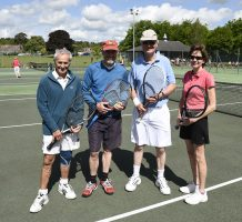 Club members of Woodbridge Tennis Club in Suffolk
