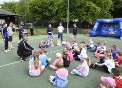 A tennis camp takes place at Woodbridge Tennis Club
