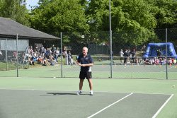 Steve Lemon, club chairman of Woodbridge Tennis Club in Suffolk
