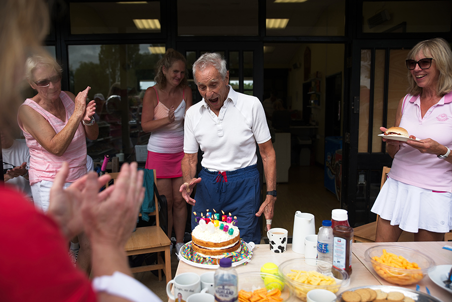 Woodbridge club member Sam Schuster at his club birthday party