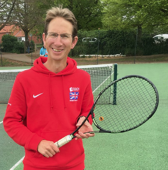 Jon Mansfield, Head Coach at Woodbridge Tennis Club in Suffolk