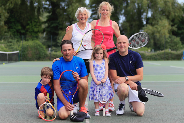 Tennis players of all ages at Woodbridge Tennis Club