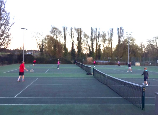 Social tennis session at Woodbridge Tennis Club