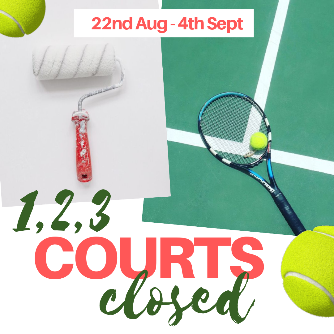 Tennis courts closed for painting at Woodbridge Tennis Club